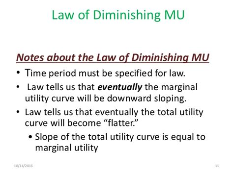 law of diminishing marginal utility law of diminishing marginal utility