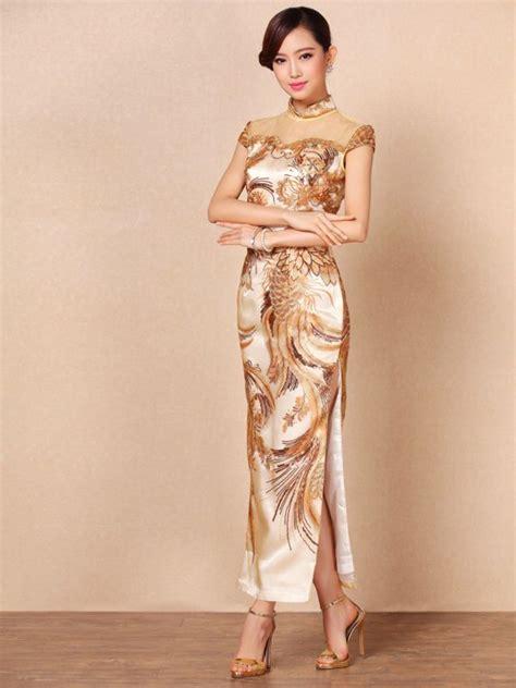 Iv Cheongsam Longdress Fabulous Embroidery Luxury Qipao Cheongsam Dress