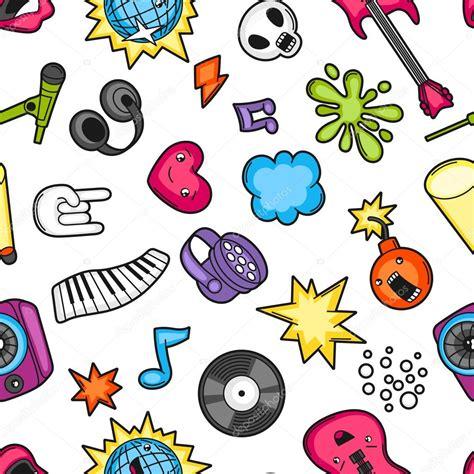 imagenes de simbolos foneticos m 250 sica partido kawaii de patrones sin fisuras