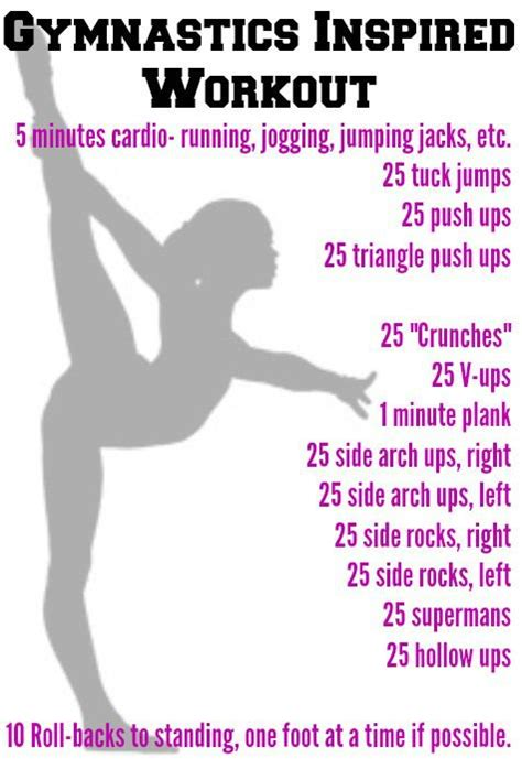 best 25 gymnast workout ideas on