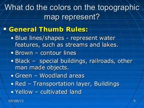 what do the colors mean what do the colors on a topographic map represent