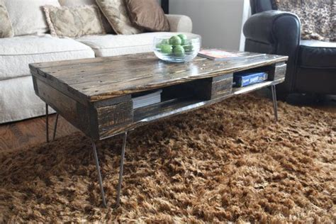 skid coffee table enclosed antique pallet skid coffee tables on hairpin legs