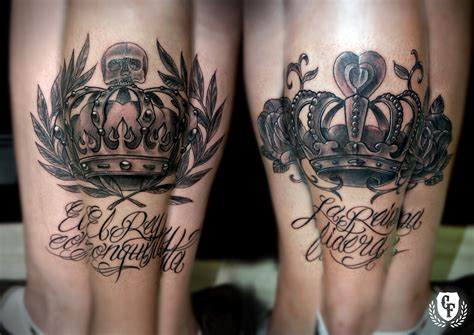 king queen crown tattoos king and crown quotes quotesgram