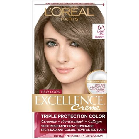 6a hair color l oreal 174 excellence non drip cr 232 me 6a light ash