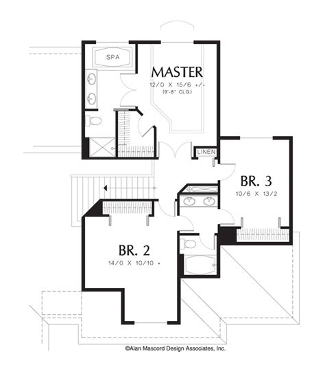 Grande 3 Car Garage Plans by Mascord House Plan 2209 The Armstrong