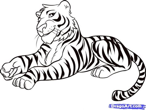 cartoon pictures of tigers az coloring pages