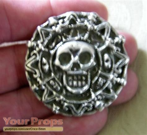 Aztec Replica Lucky Coin of the caribbean silver aztec coin replica prop
