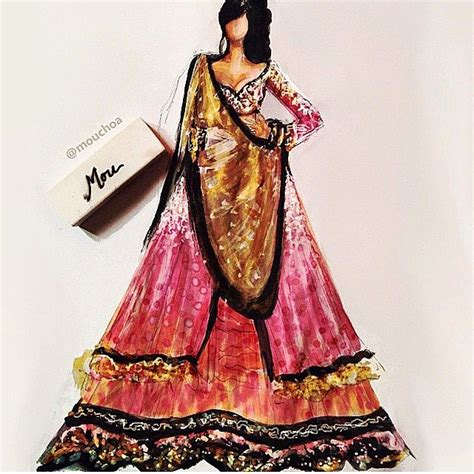fashion illustration in saree d e s i t h r e a d s fashion illustration