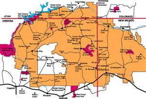 navajo nation map clickable