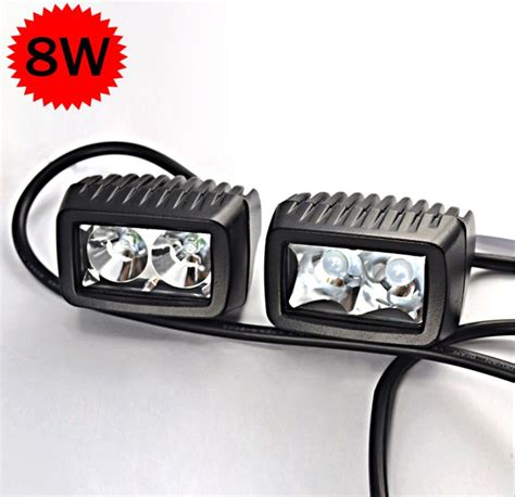 led spot 12v 2pcs cree 8w led spot flood autos lights 12v 24v car
