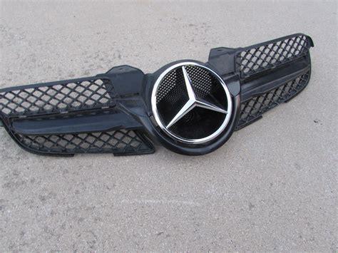 Emblem Brabus Mercedes Metal Grill 2 mercedes r171 front bumper grille w emblem post facelift a1718880260 hermes auto parts