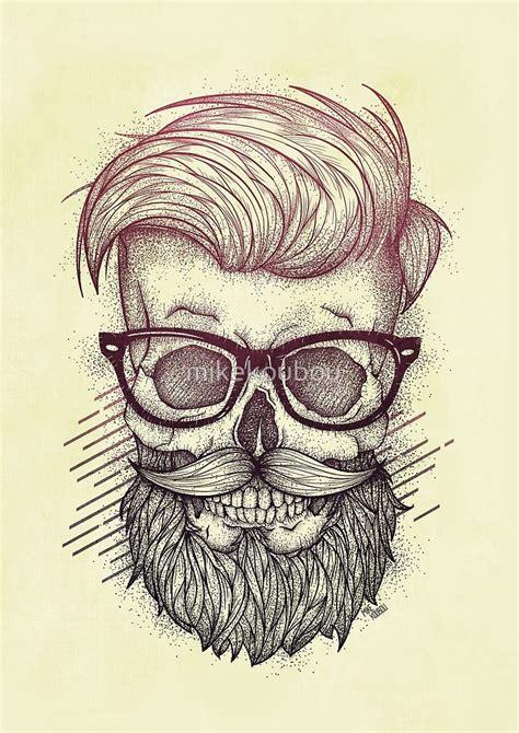 imagenes hipster de calaveras 171 hipster is dead 187 de mikekoubou barba pinterest