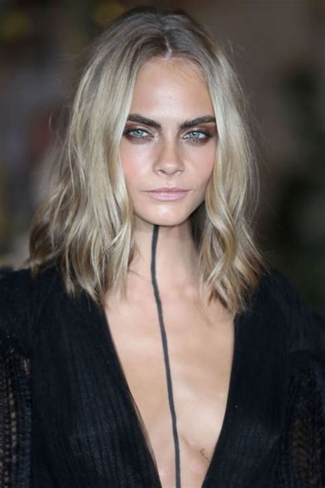 textured lob straight our 10 favorite haircuts for spring cara delevingne