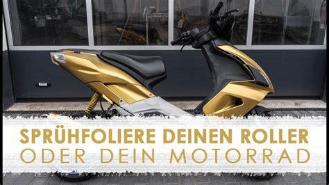 Auto Lackieren Mit Roller by Folidip Spr 252 Hfolie F 252 R Motorr 228 Der Und Roller Youtube