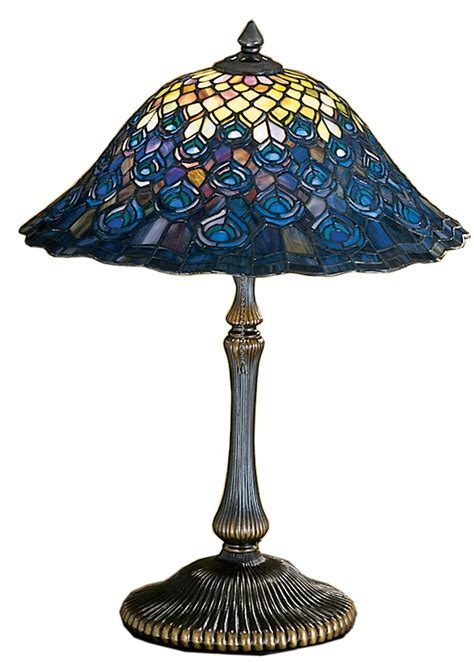 Surya Home Decor meyda tiffany 28368 peacock feather tiffany table lamp md