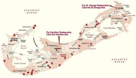 map of bermuda and us bermuda dining map