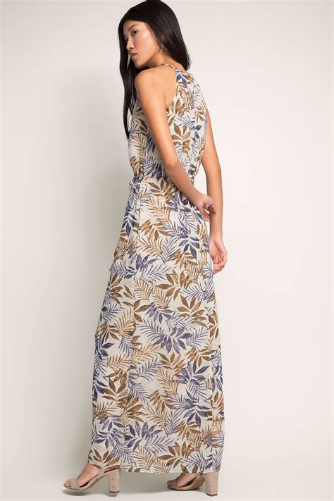Flowing Maxi esprit flowing chiffon maxi dress with print at our