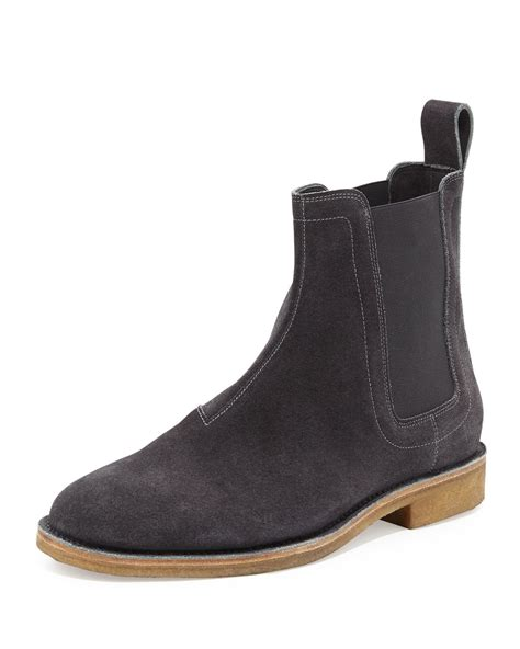 grey chelsea boots mens bottega veneta aussie suede chelsea boots in gray for