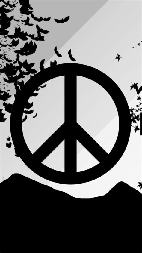 hd peace sign wallpaper wallpapersafari