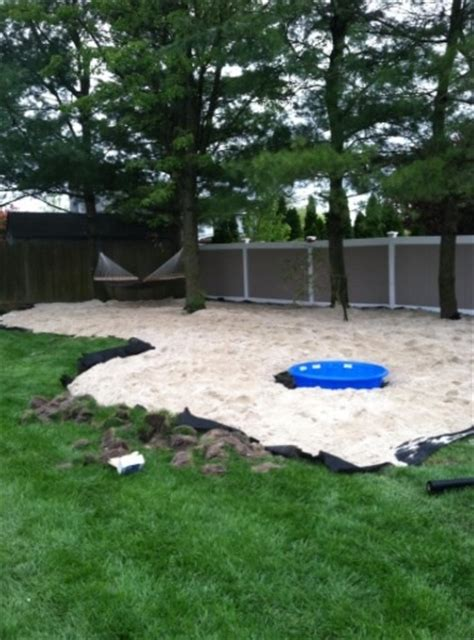 backyard beach ideas 15 tons of white sand for my back yard beach retreat my