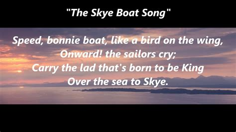 skye boat song music box the skye boat song scottish scotland lyrics words best top