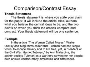 Comparison Contrast Essay Exles by Writing Portfolio With Mr Butner Ppt