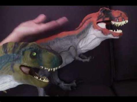 tyrannosaur izle jurassic park bull t rex toy review 2009 youtube