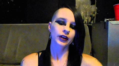 Victorian Goth gothic makeup side shave hairstyle youtube