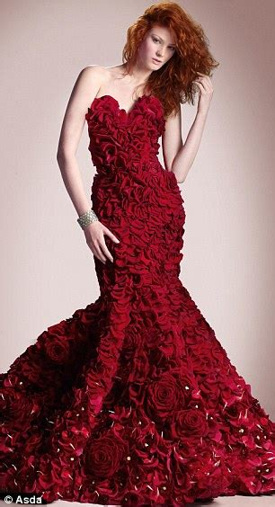 Rosse Flowerist Dress Horti Couture To Get Hearts Racing Asda Unveils Two