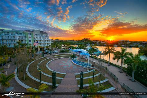 harborside place sunset waterway   theater