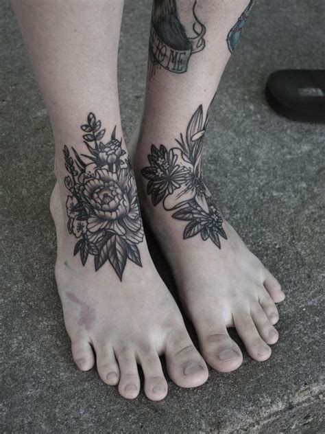 design flower tattoo foot ankle tattoos for men ideas and designs for guys