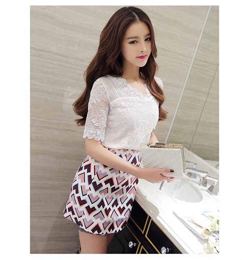Kemeja Atasan Putih Korea baju atasan putih brokat cantik korea toko baju wanita