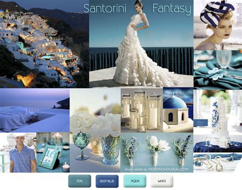 Wedding Greece by Weddings In Santorini Greece Inspiration Boards