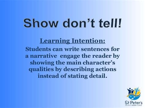 and tell the of narration show not tell narrative writing