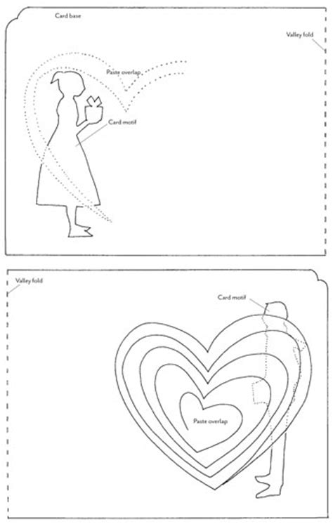 shaped pop up card template how tuesday pop up valentines etsy journal