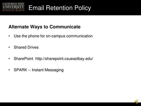 yahoo email retention policy ppt email retention policy presentation handouts