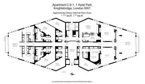 one hyde park floor plans a 5 bedroom penthouse at london s most prestigious address
