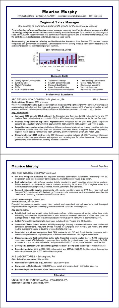 Writing A Sales Resume by Best 25 Sales Resume Ideas On Business Resume