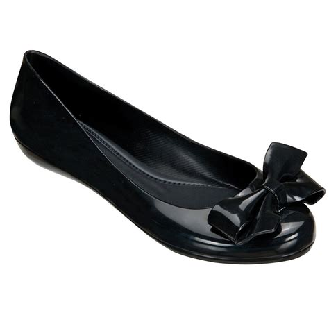 Black Shoes by Buy Mel Strawberry Black Bow Flat Shoe