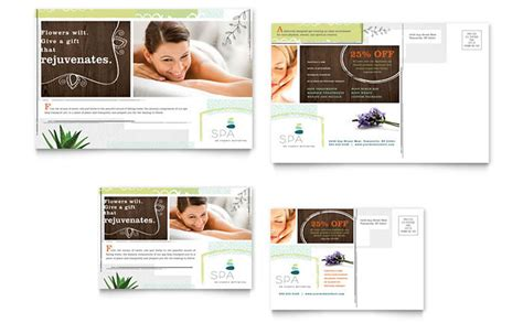 beauticontrol business card templates day spa postcard template design