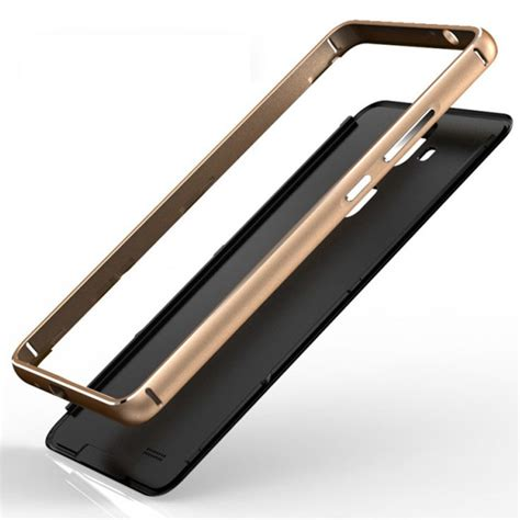 Aluminium Bumper With Mirror Back Cover For Huawei P8 Berkualitas aluminium bumper with mirror back cover for huawei mate 7