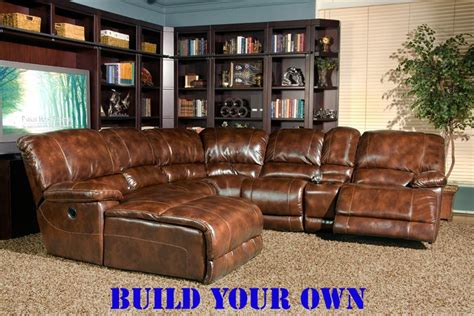 build your own recliner mars coffee leather build your own reclining sectional by