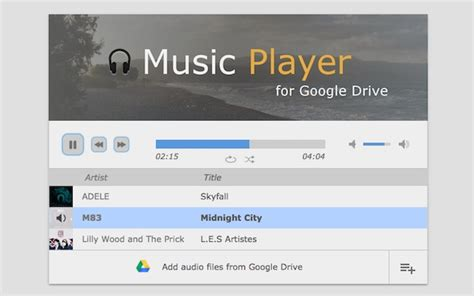 format audio google music music player for google drive chrome web store
