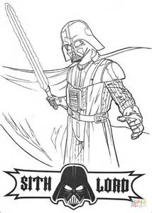 sith coloring pages darth vader sith lord coloring page free printable