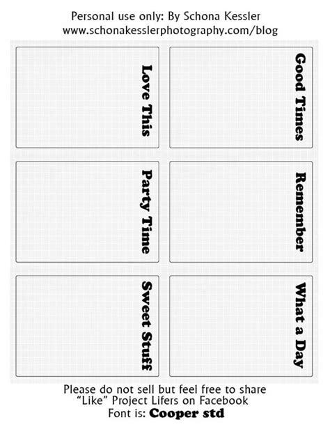 3x4 cards template 6 free project 3x4 journaling cards in a pdf to print