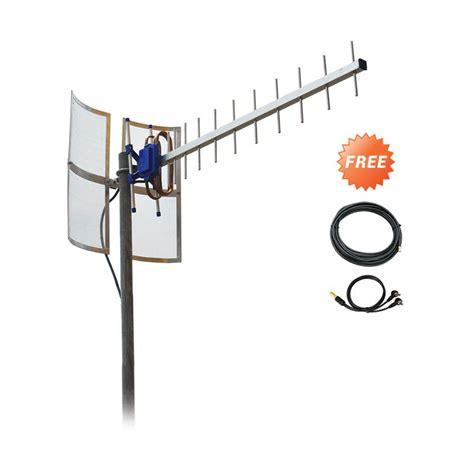 Antena Yagi Dual Driven Txr 145 Penguat Sinyal Modem Huawei E881e jual antena yagi txr185 penguat sinyal for modem huawei e3276 dual pigtail kabel