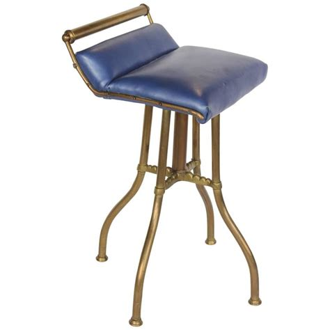 leather swivel bar stools at 1stdibs antique brass and leather swivel stool for sale at 1stdibs