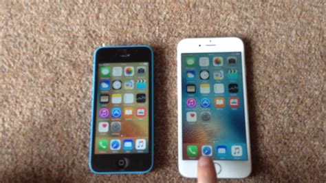iphone 5c vs iphone 6s comparison