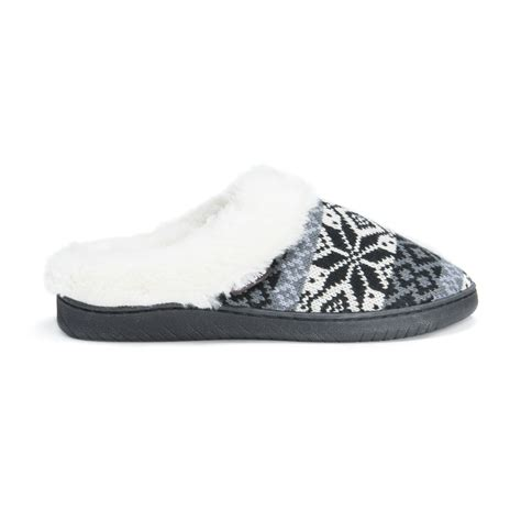 muk luks slippers womens muk luks 174 s patterned knit clogs black slippers