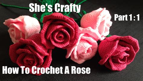 youtube a pattern of roses how to crochet a rose easy crochet lessons to crochet